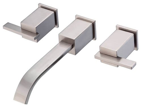 us Two Handle Wall Mount Lavatory Faucet, Brushed Nickel (Sirius Sink Faucet)