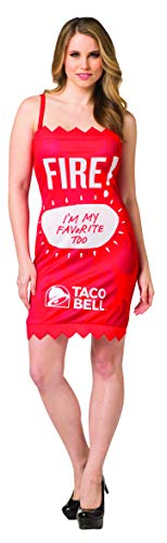 Taco Bell Sauce Packet Dress Fire Costume, Size M-L Red