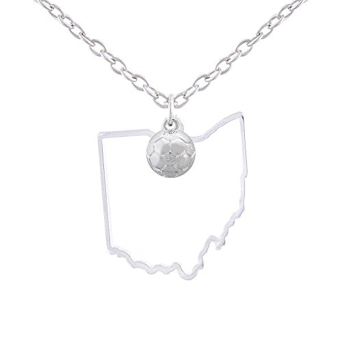 GIMMEDAT State of Mine: Ohio Soccer Silver Necklace ()