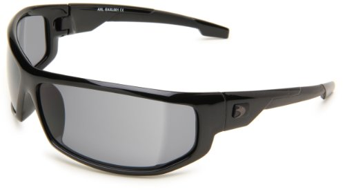 Bobster AXL EAXL001 Wrap Sunglasses,Black Frame/Smoked Lens,One Size ()