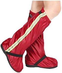 XHYRB 防水防雨靴カバー、アンチ泥や砂防雪の乗馬靴カバー、ノンスリップ靴カバー、男性と女性のためのノンスリップ耐摩耗保護靴カバー、ブラック、ブルー、レッド 防水靴、防雨カバー、長靴 (Color : Red, Size : XL)