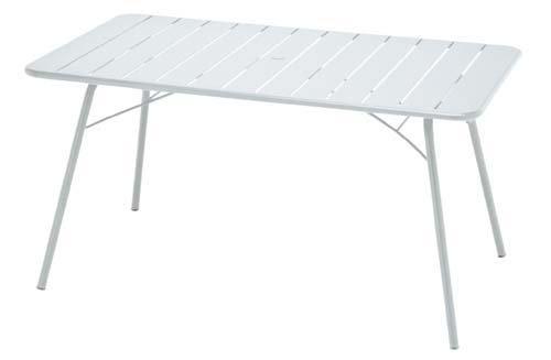 ルクセンブールテーブル80x140W B00ALOQHNO ホワイト