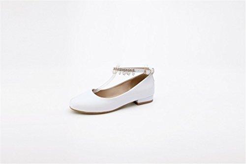 white Zapatos bajo Dulce Perla de Estudiantes Mujer Otoño Flujo de La de Primavera Zapatos con y Sra Tacón rPnwTRqUr