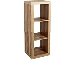 Better Homes And Gardens Furniture 3 Cube Room Organizer Storage Bookcases  Weathered (3 Cube