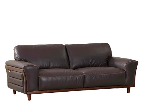 Blackjack Furniture Montgomery Modern Italian Leather Sofa, 87