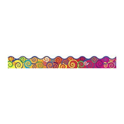 (Rainbow Swirls Terrific Trimmer Classroom Border [Set of 3])