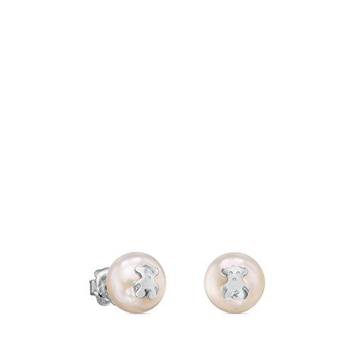 Pendientes TOUS Bear en plata de primera ley y perlas cultivadas