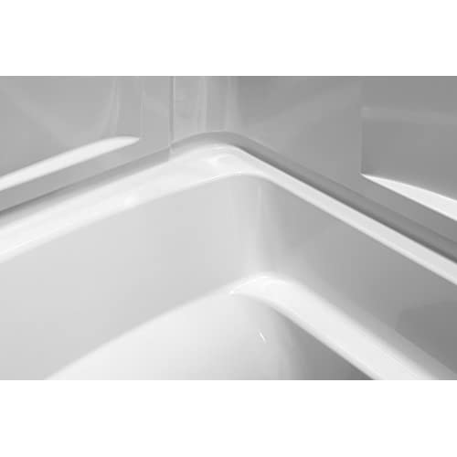 hot sale 2017 Sterling Plumbing 71220120-0 Ensemble Bath and Shower Kit, 60-Inch x 32-Inch x 74-Inch, Right-Hand, White