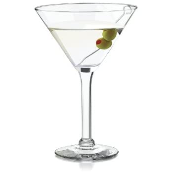 Libbey 10-Ounce Preston Martini Glass, Clear, 4-Piece