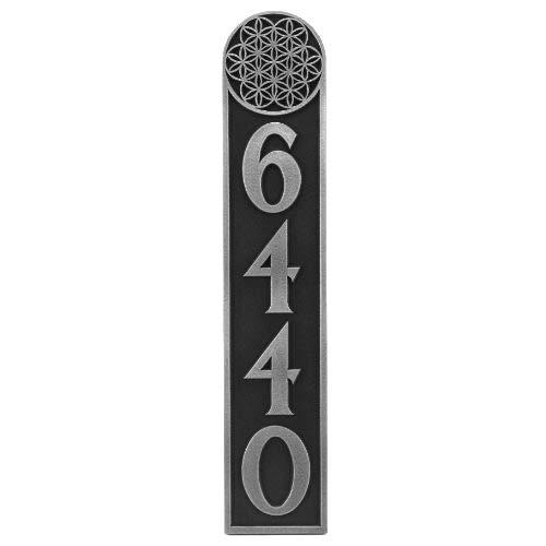 生命の花垂直アドレスPlaque 4 # 4 x 20 Raisedシルバーニッケルコーティング   B00JDOJCUI
