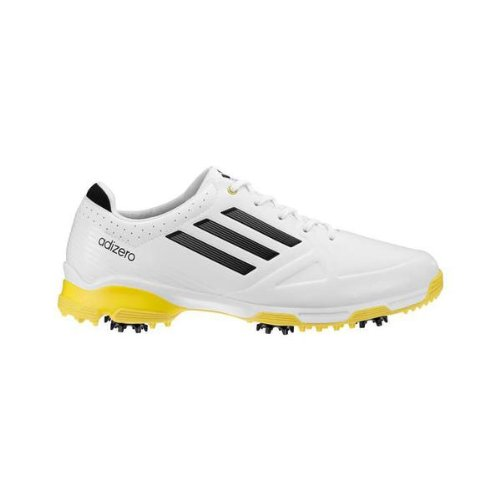 Adidas Adizero 6-Spike Men's Golf Shoes - Medium (10.5 US, White/Yellow)