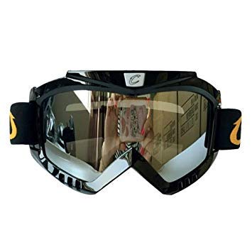 Uniqus Motorcycle Helmet Riding Mask Goggles Set Outdoor Wind and Sand Resistant Off-Road Harley Goggles Removable Masks(Silver)
