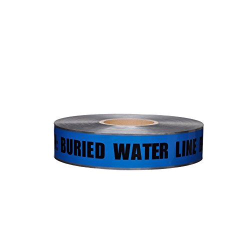 (Swanson DETB21005 2-Inch by 1000-Feet 5-MIL Detectable Tape Caution with Buried Water Line Below Blue/Black Print )