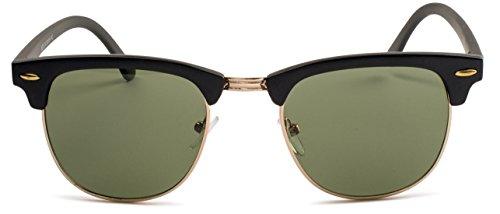 d5c6ecdde46 Matte Black Frame Green Lens Stylle Clubmaster Sunglasses available ...