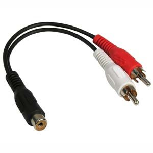 InstallerParts 6 Inch RCA Stereo Female to 2xRCA Male Splitter - Compatible with Most Audio - Audio Composite Splitter