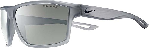 Nike Golf Legend Sunglasses, Matte Crystal Wolf Grey/Obsidian Frame, Grey with Silver Flash - Silver Flash Lenses