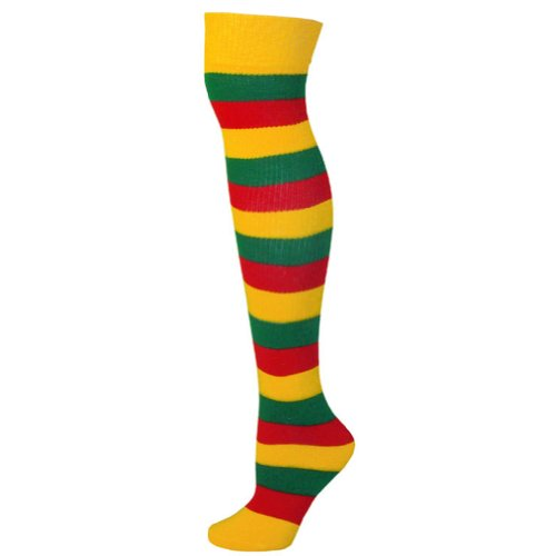 Yellow Gold Ajs Socks Adult Red Purple Sja Striped IRxOn6