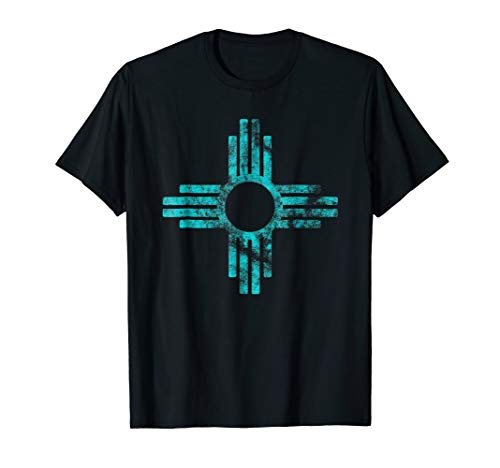 New Mexico Tshirt - Zia symbol distressed ()