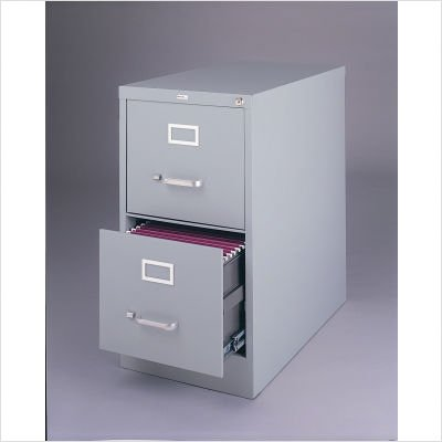 """26.5"""" Deep Commercial Grade 2 Drawer Vertical Letter File Cabinet in Putty"""