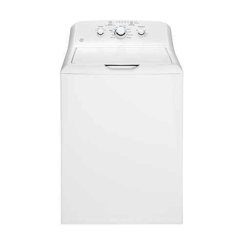 GE GTW330ASKWW Top Loading Washer with Stainless Steel Basket, 3.8 Cu. Ft. Capacity, 11 Cycles, White, by GE