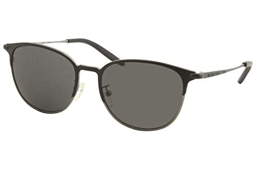 Michael Kors Men's Caden MK1059 MK/1059 120287 Matte Black Round Sunglasses 54mm (Black, 54)