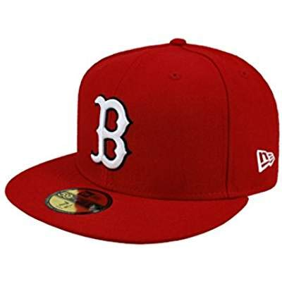 NEW ERA. 59fifty Men's Hat Boston Red Sox Red Fitted Cap (7)