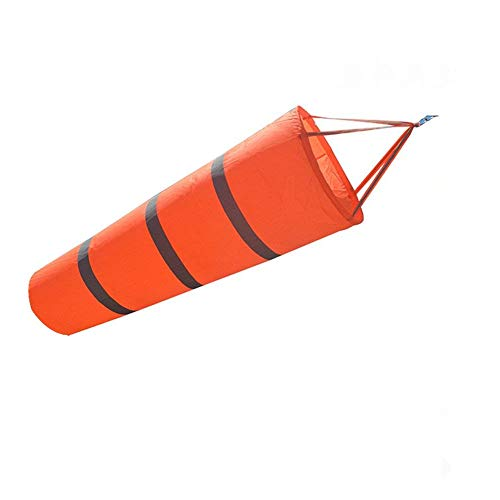 Jocon SF8106 Windsock Reflective Rip-Stop Outdoor for Airport Garden Patio Lawn Wind Sock Bag Flag (Lenth 40″, Reflective Orange) For Sale