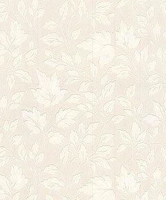 Graham & Brown Paintable Leaves Floral Botanical Embossed Wallpaper, White