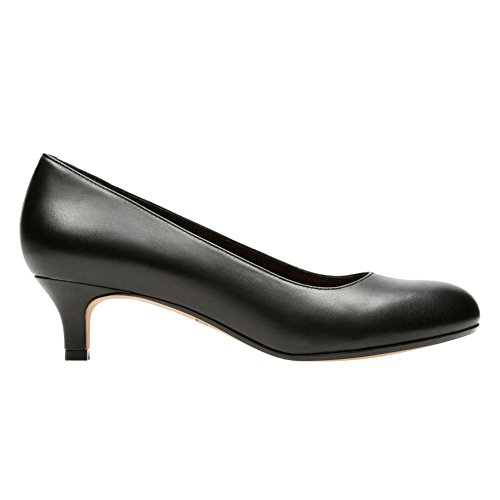 Clarks Women's Heavenly Shine Dress Pump, Black Leather, 8 M US