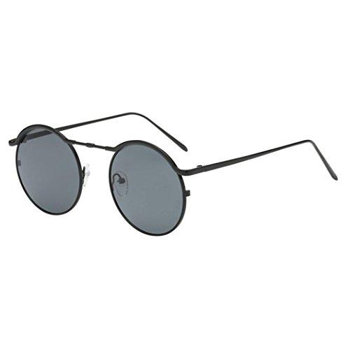 Fheaven Women Unisex Fashion Round Frame Sunglasses Shades Acetate UV Glasses Sunglasses Polaroid (A) ()