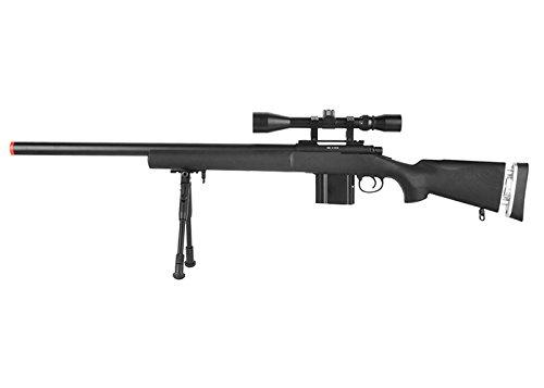 Well MB4404D M24 Sniper Rifle W/Scope & Bipod (Black) ()