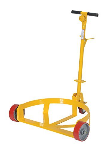Vestil LO-DC-PU Lo-Profile Drum Caddie with Bung Wrench Handle and Poly-on-steel Wheel, Steel, 21-5/8'' Length, 31-5/8'' Width, 37-5/8'' Height, 1200 Capacity by Vestil (Image #2)