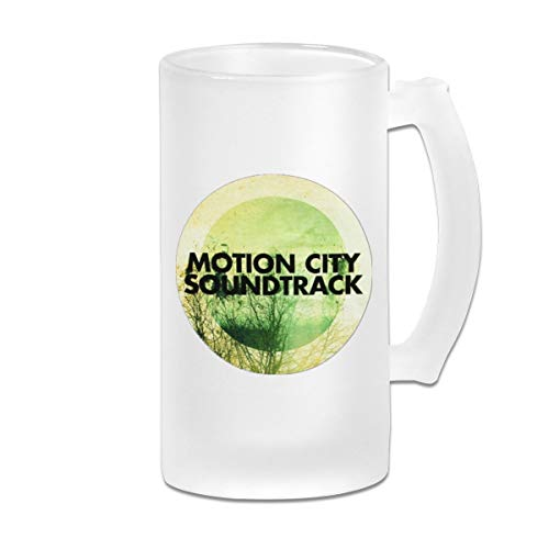 MCCLPPO Motion City Soundtrack Frosted Beer Mugs With Handle Classic Steins Drinking Bar Cafe Cups Gifts For Men Women Dad