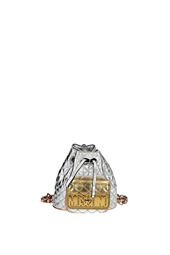 A743780031606 Moschino Bags Backpack Women Leather Silver