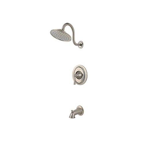 (Pfister LG898GLK G898GLK Saxton 1-Handle Tub & Shower Trim in Brushed Nickel)