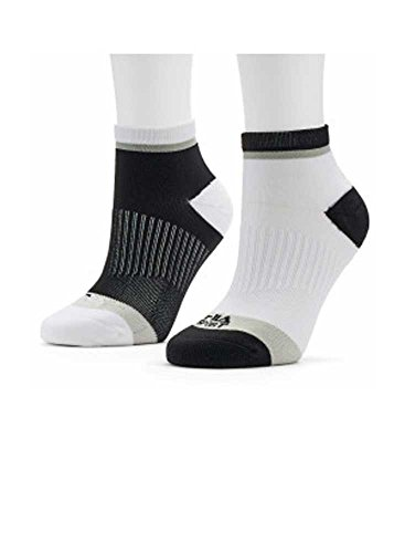 Women's FILA Sport 2-pk. Quarter Socks 3278DF Black/White 5-9