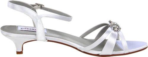 Dyeables Women's Penelope Ankle-Strap Sandal White Satin QI27cc