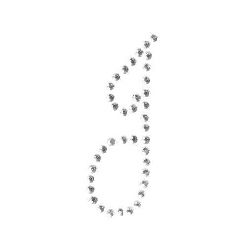 (Ivy Lane Design 10-Pack Rhinestone Letter Stickers, Letter J)