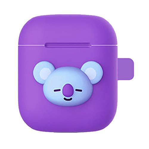 (Jacobera Kpop BTS Airpods Case, Protective Silicone Cover Chargeable Headphone Case Charging Case AirPods Accessories(KOYA))
