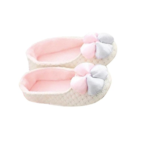 Womens Slipper,Clode® Cotton Women Home Warm Pregnant Women Shoes Anti-skid Knit Shoes Indoor Home Floor Shoes White