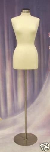 Foam Round Base ((JF-F10/12W+BS-04+CAP-M04) Female Foam Dress Form + Round Metal Base & Top)