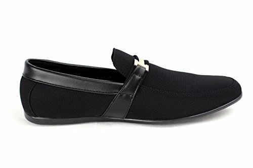 CABALLEROS Conducción Zapatos SIN CIERRES Inteligente Mocasines Negro