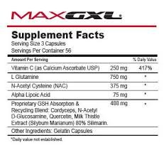Max GXL, Unique NAC Formula, 180 Vegetable Capsules, 30 Servings (Pack of ()