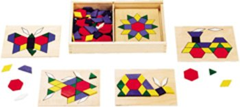 4 Pack MELISSA & DOUG WOODEN PATTERN BLOCKS & BOARDS
