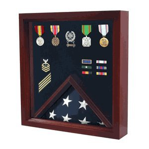 Military Flag and Medal Display Case - Shadow Box by H. Arnold Wood Turnings