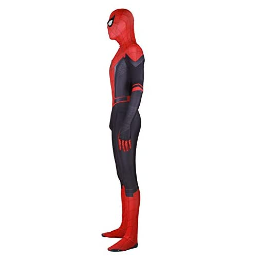 Silica Gel Spider Logo Unisex Lycra Spandex Zentai Halloween 2019 New Far From Home New Spiderman Cosplay Costumes Adultkids