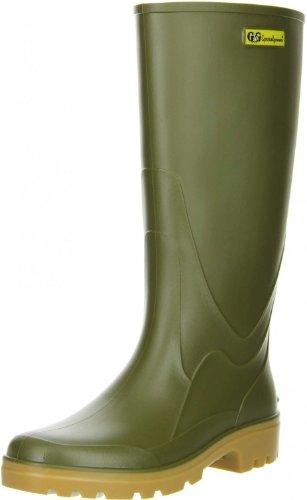 G&G Damen Herren Gummistiefel Nitrilgummi Brandsohle oliv, Größe:38;Farbe:Grün