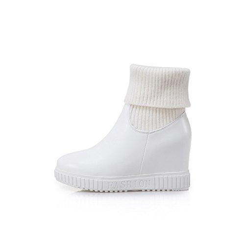 35 White con Plateau EU Bianco AdeeSu SXC02679 Donna q61fX