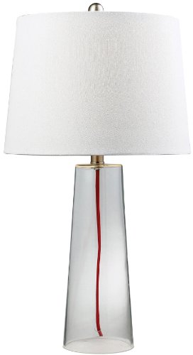 - Dimond Lighting HGTV138 14 by 26-Inch HGTV Home 1-Light Glass Contemporary Table Lamp with Red Cord, Clear Finish