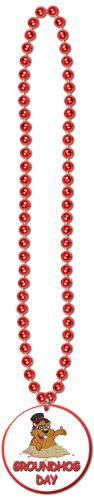 Groundhog Costumes (Beads w/Groundhog Day Medallion Party Accessory (1 count))